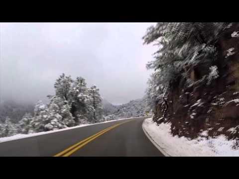 Mingus Mountain Scenic Road in Snow