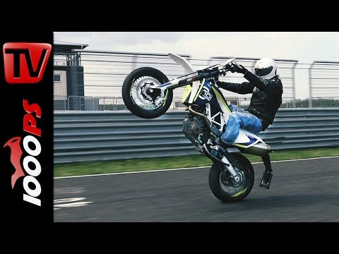 Husqvarna 701 Supermoto - Irrer Wheelie am Pannoniaring