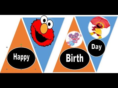 How to Make Happy Birthday Banner using MS-Word by gmostafa! - YouTube