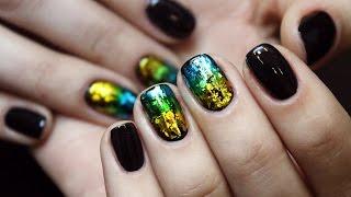 Литье на ногтях + витражные гель-лаки