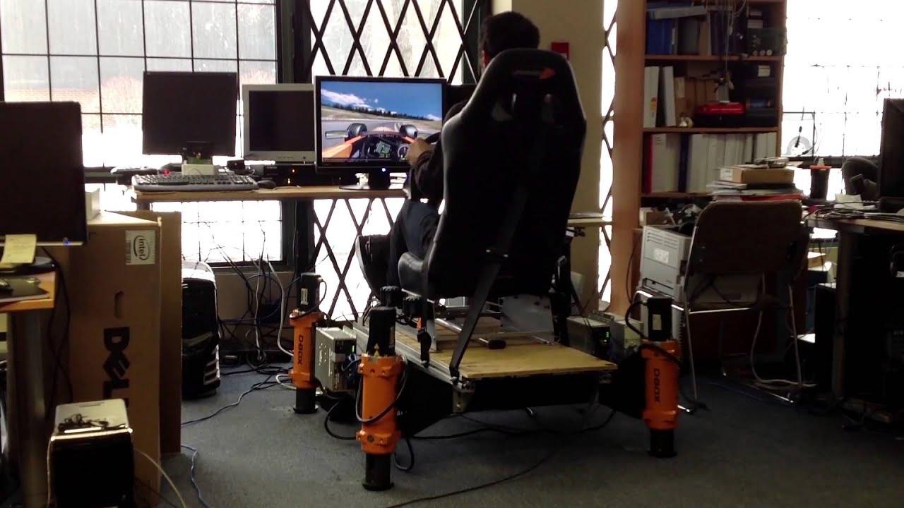 New 6 Quot D Box Motion Sim Actuator Test Youtube