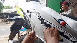 PASANG STIKER DECAL MOTOR HONDA  VARIO 150 NEW SHARK FULL BODY,,KEREEENNN