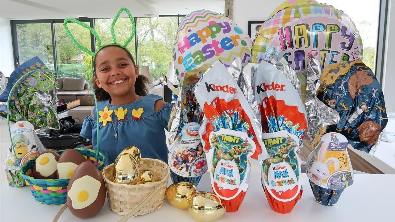 Easter Egg Hunt Maxi Kinder Surprise Eggs Giant Golden