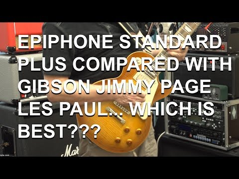 Epiphone Les Paul Standard Pro compared to Gibson Jimmy Page LP full Review   tonymckenziecom