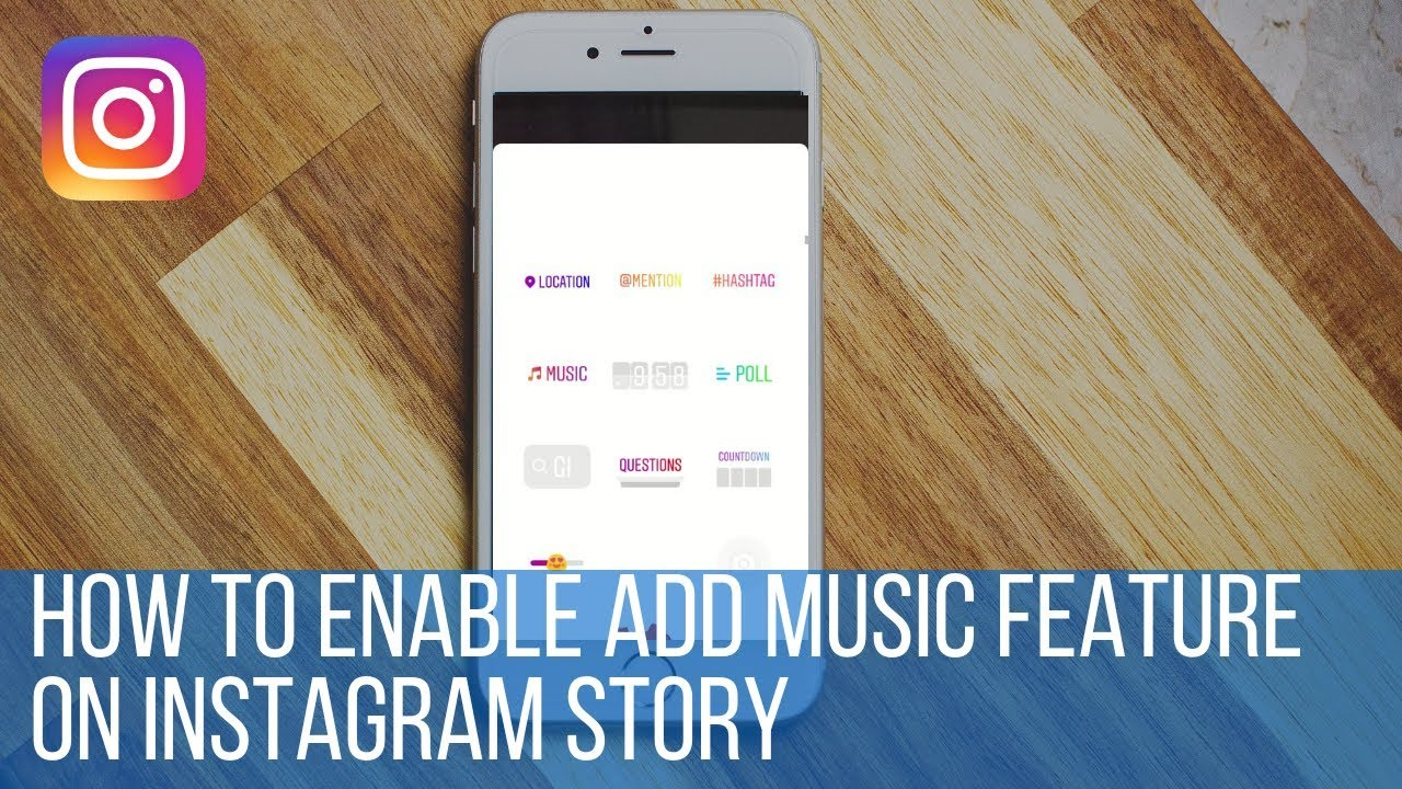 How to enable add music feature on Instagram story