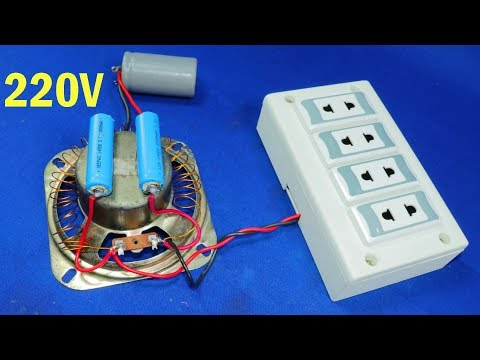 Free Electricity Generator 2.5 Capacitor To 220V AC Energy Light Electric Generator