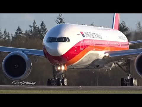 New TAAG Angola Airlines Boeing 777-300ER Performing Double RTO's @ KPAE Paine Field