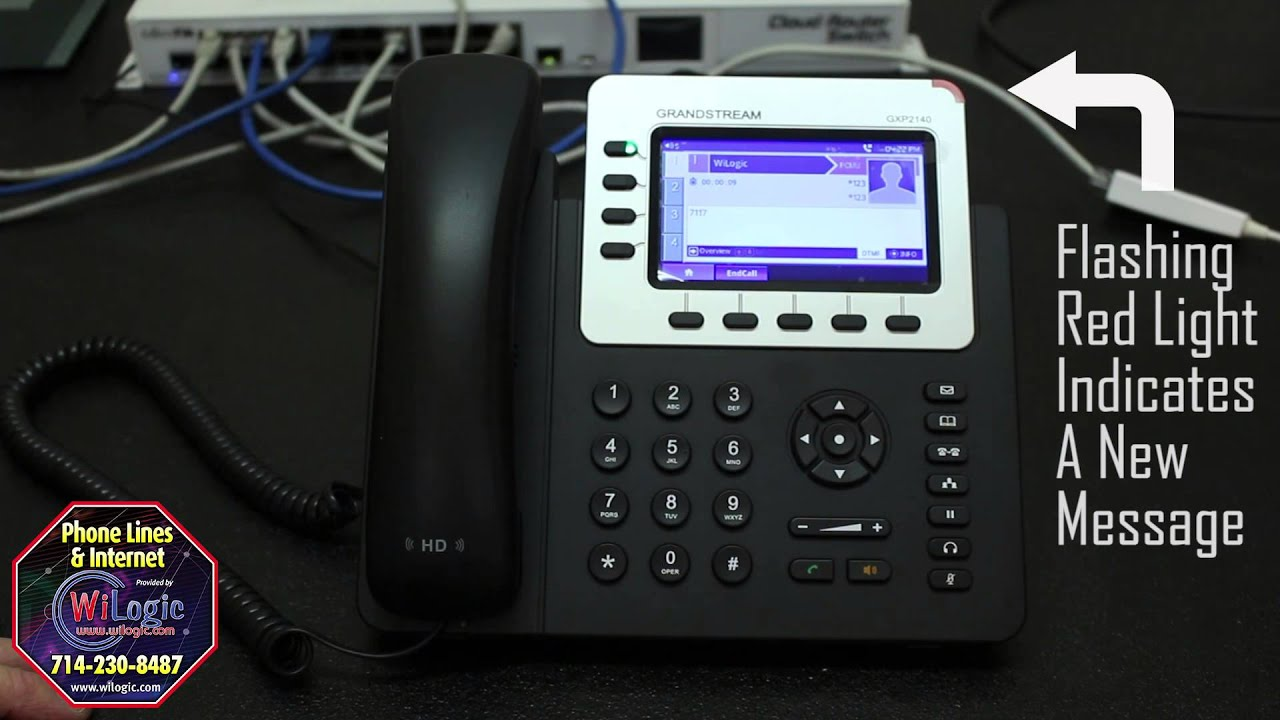 How to check voicemail on a Grandstream 2140 IP Phone
