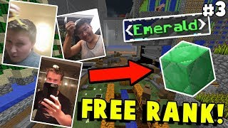 THESE PLAYERS DID WHAT FOR A FREE RANK?! | Minecraft SKYBLOCK #3