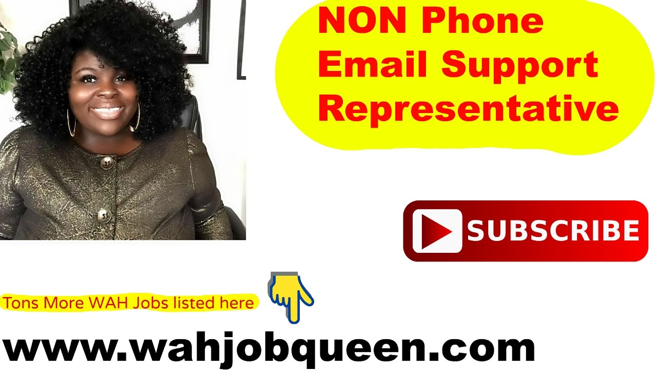 Work from home email support jobs