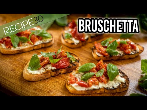 Bruschetta With Semi Dried Tomatoes And Goat Cheese