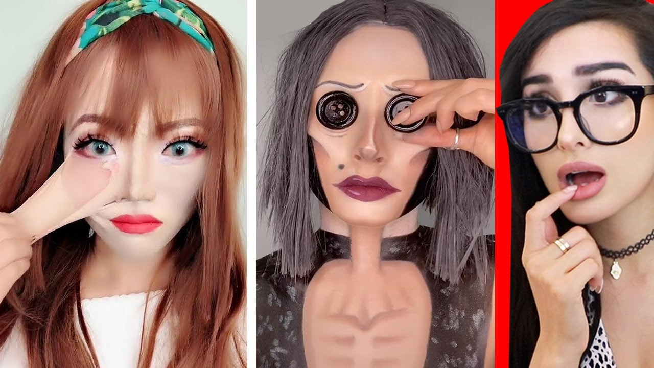 Crazy Halloween Tik Tok Makeup Transformations Youtube Makeup Transformation Crazy Makeup Makeup