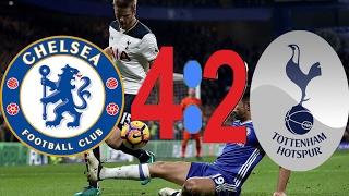 Челси 4-2 Тоттенхэм HD обзор матча