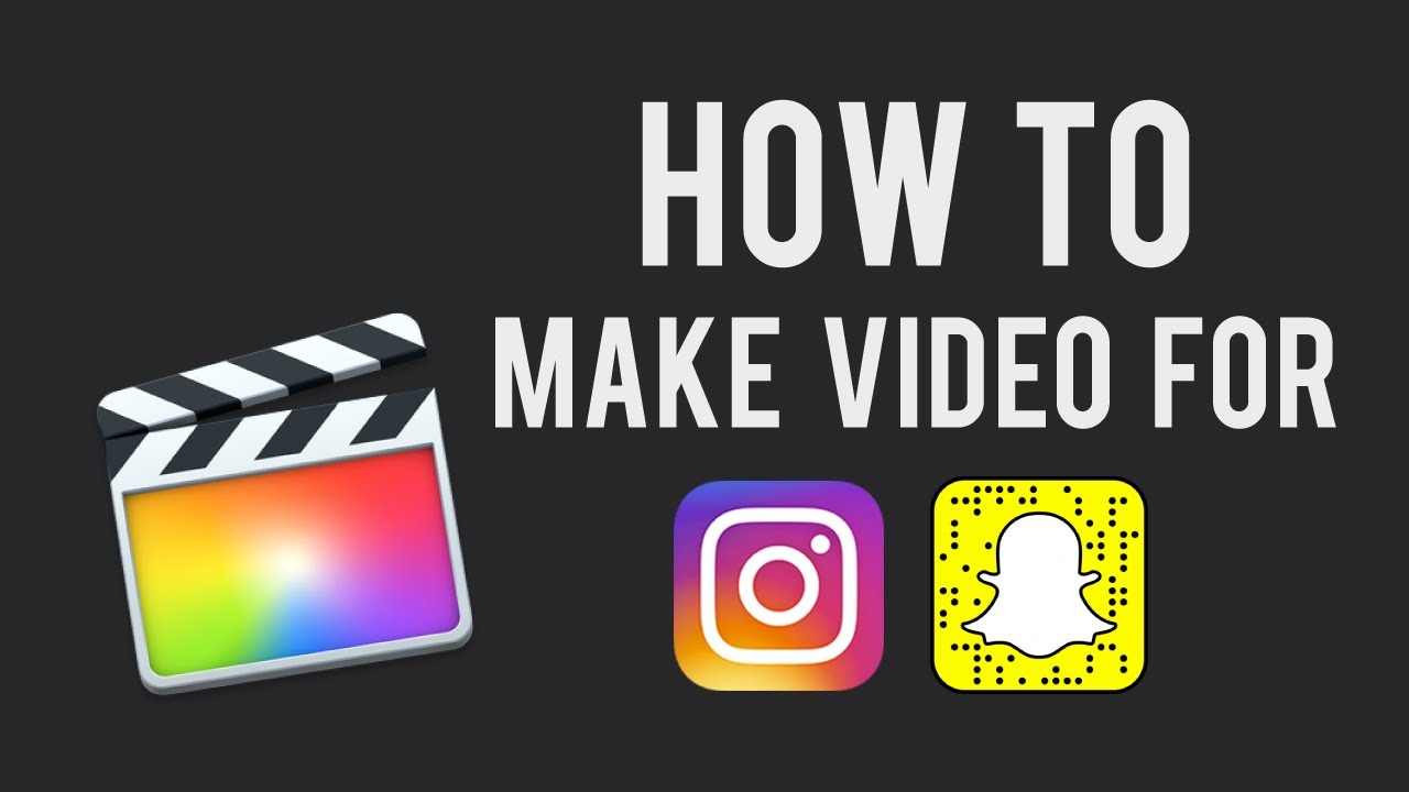 How to make videos for instagram story or snapchat in final cut pro how to make videos for instagram story or snapchat in final cut pro ccuart Gallery