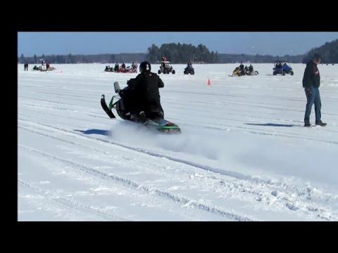 Outlaws Snowmobile Drag Racing - Weenie Roast   Jason Asselin