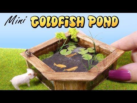 How To Mini Goldfish Pond Tutorial // Miniature Aquarium