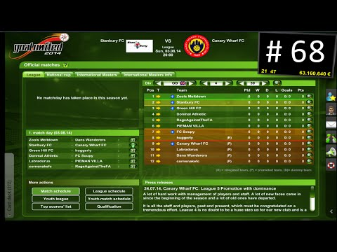 Goal United Football Management GAME #68 - We are top of the league!