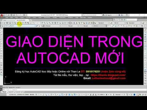 Thiết lập giao diện Autocad Classic cho các phiên bản AutoCAD mới như thế nào?