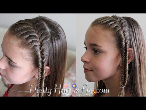 How to do a fishtail headband braid pretty hair is fun youtube