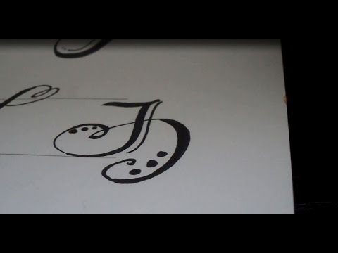 How To Draw A Fancy Swivereled Letter J Youtube