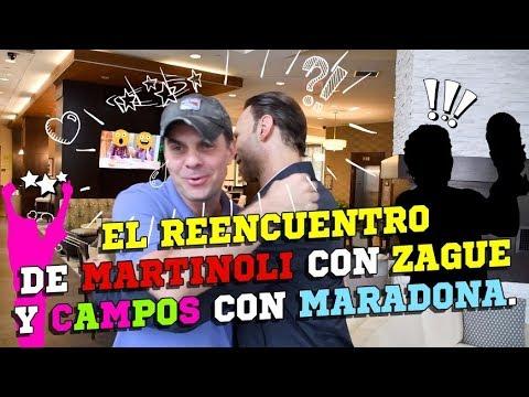 El reencuentro de Martinoli con Zague y Jorge Campos con Maradona.