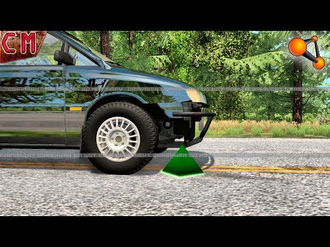 Tire BlowOut Crashes (Blown tires) BeamNG...