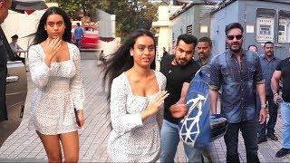 Ajay Devgan's daughter Nysa Devgan Scared From Media And Fans At Tanhaji Screening