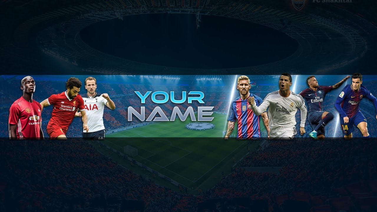 Free Football Banner Template For Youtube Channel 24 Photoshop I