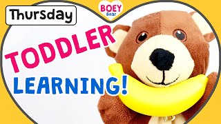 🐻 Daily Toddler Videos, Phonics For Toddlers Uk, Learn Colours, Learn English For Kids, Boey Bear