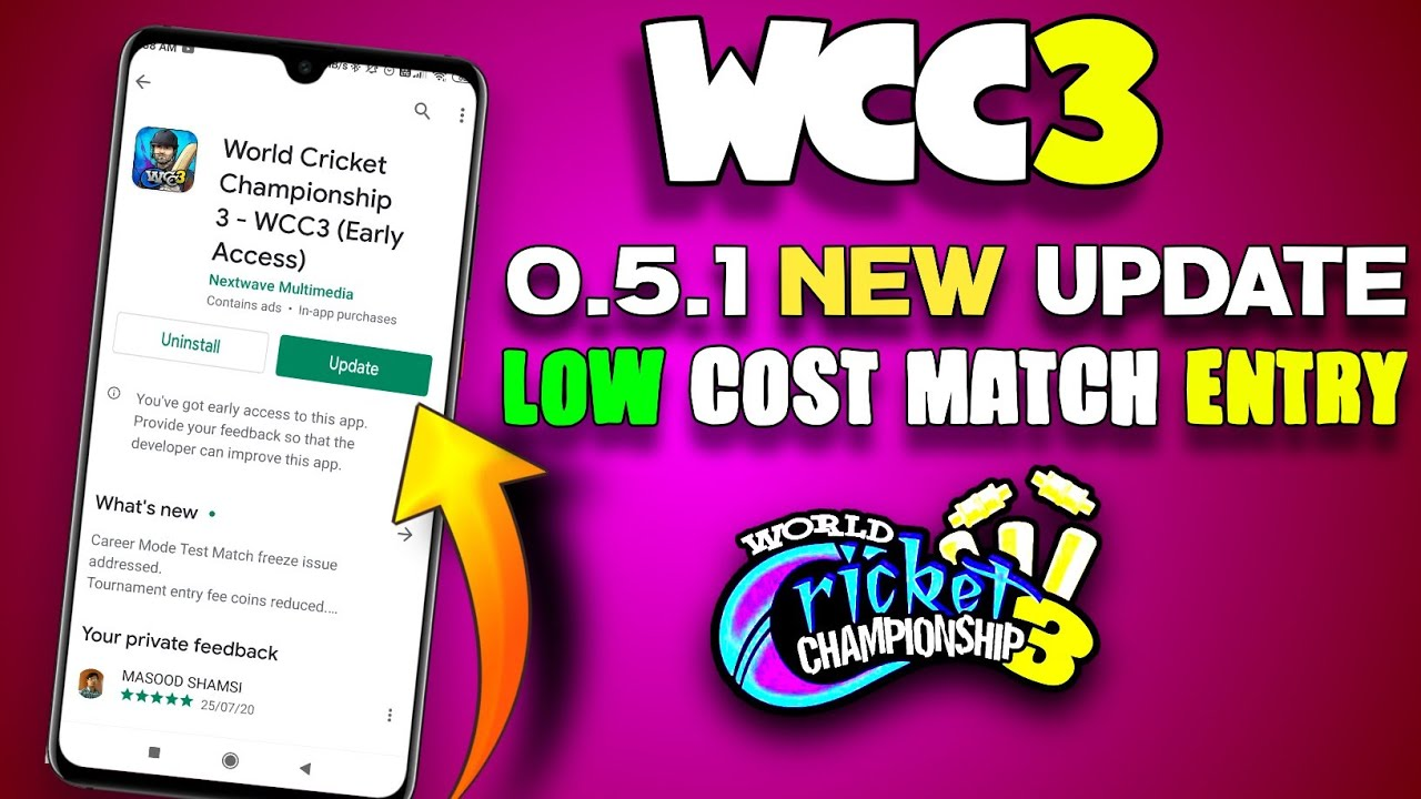 🔥WCC3 New Update 0.5.1 ! Very Low entry Fees ll