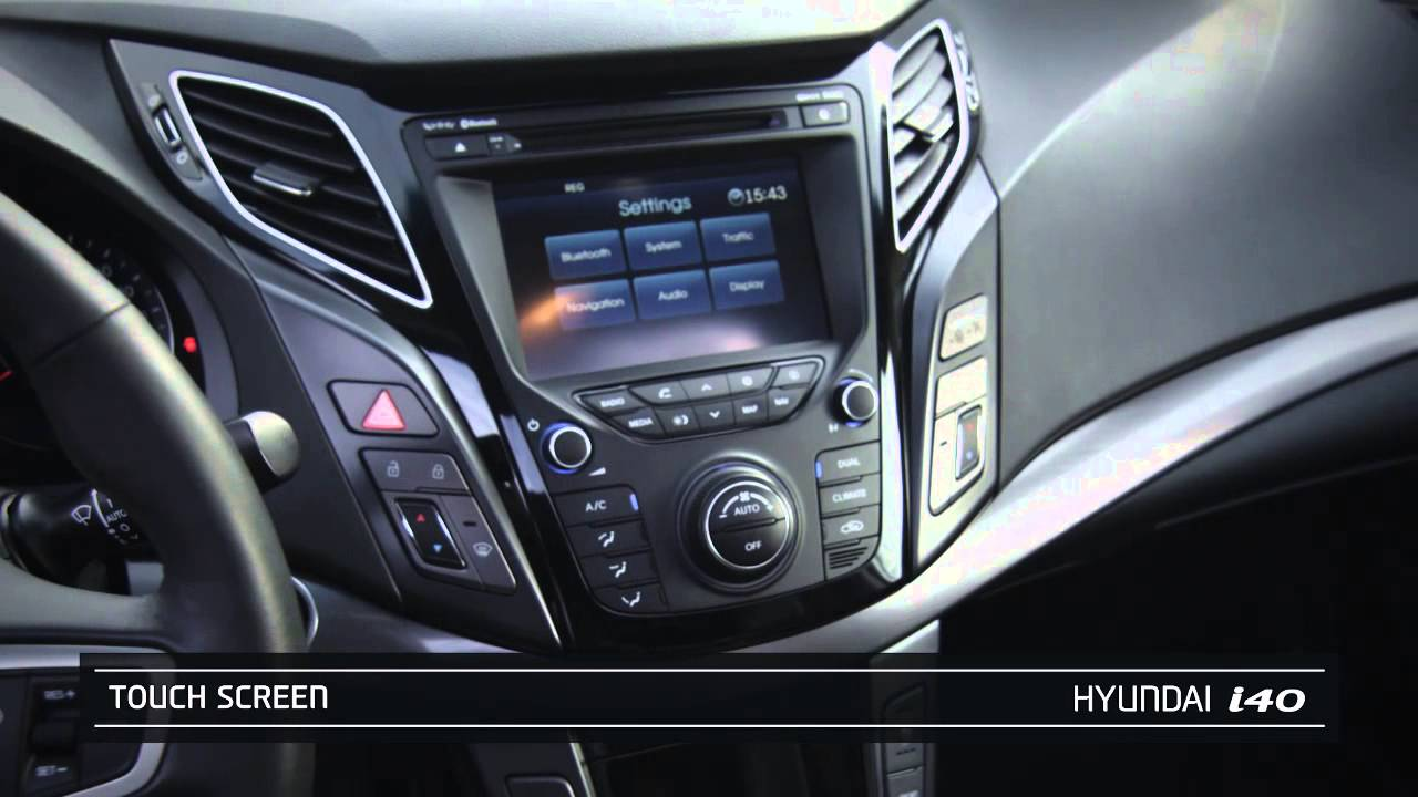 hyundai i40 dashboard youtube. Black Bedroom Furniture Sets. Home Design Ideas