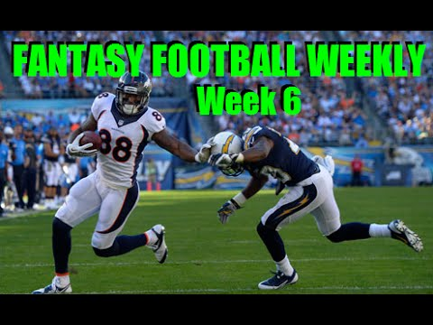 Week 6 Fantasy Football News - 2014 NFL Season