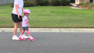 Daughter Learning to Roller Skate