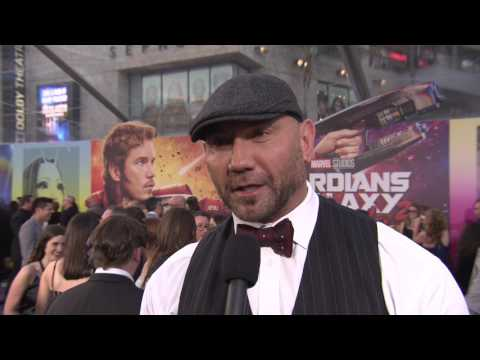 "Guardians of the Galaxy Vol. 2: Dave Bautista ""Drax"" Red Carpet Movie Premiere Interview"