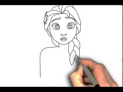 how to draw elsa from frozen fever step by step