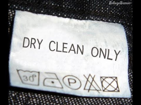 """what happens when you machine wash """"dry clean only""""?"""
