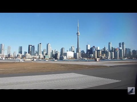 JZA7953 Dash Q400 YUL to YTZ flight - Landing at Toronto Cit