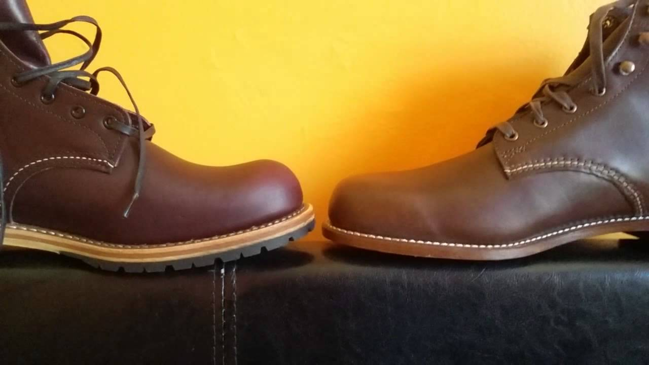 0ffe9642314 red wing beckman vs wolverine 1000 mile boot comparison