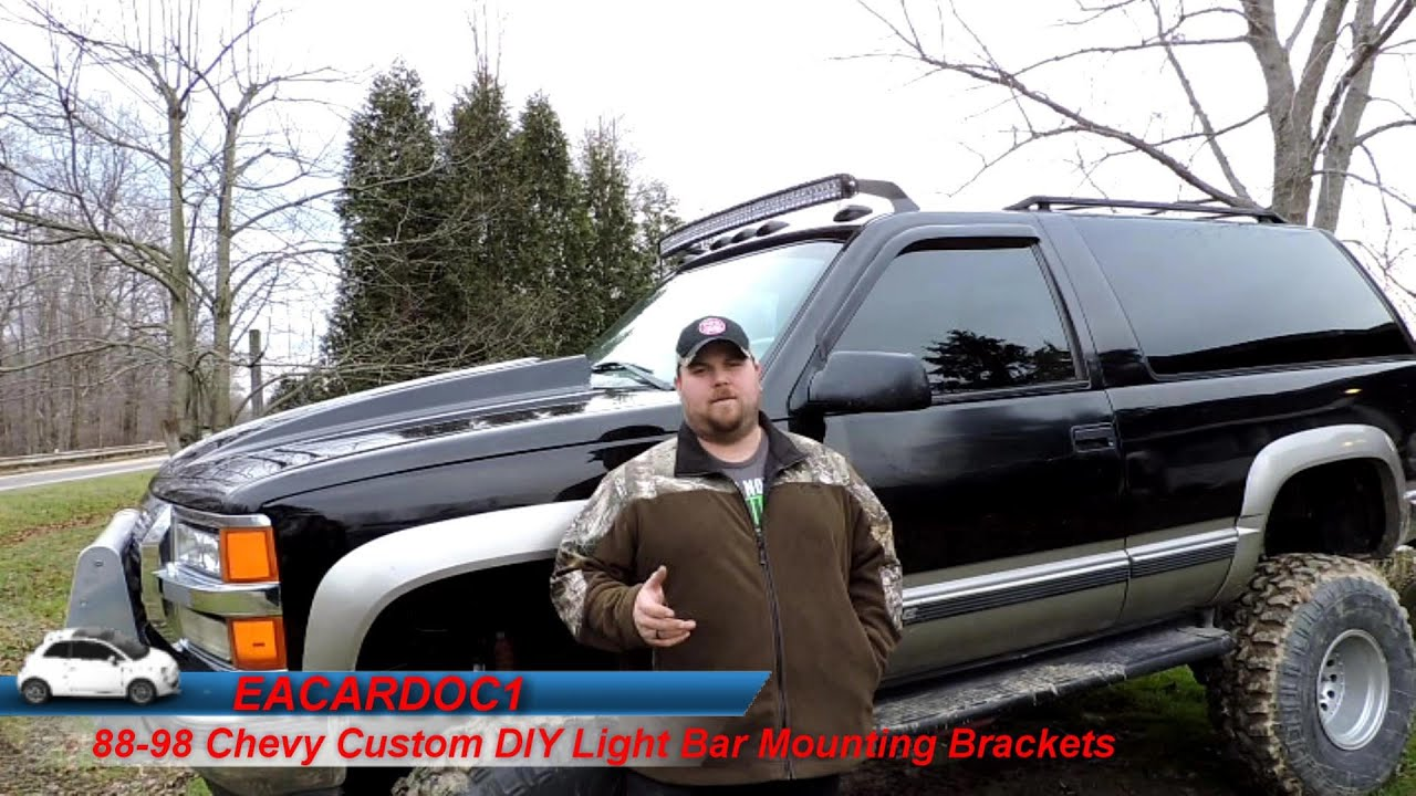 88 98 chevy custom light bar roof mount brackets diy how to 88 98 chevy custom light bar roof mount brackets diy how to youtube mozeypictures Choice Image