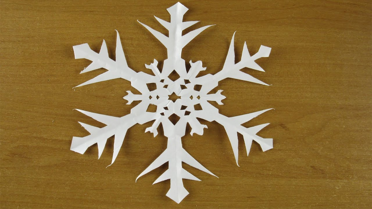 Как сделать снежинку из бумаги А4 легко. Новогоднее ...