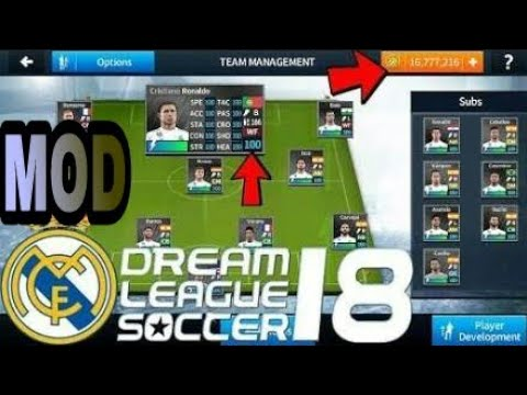 365bacfdfee0a6 DLS 2018 Mod Unlimited Coins+100 ovr Real Madrid Squad - YouTube