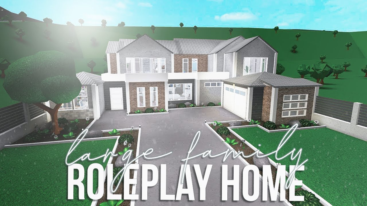 Roblox Bloxburg Large Family Roleplay Home 123k Youtube