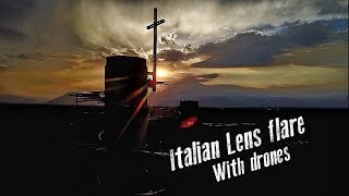 Italian Lens Flare + Drone Boinking Nuclear Cooling Tower