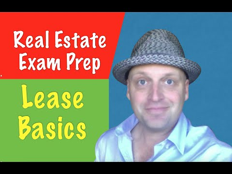 A lease as it pertains to your Real Estate Exam