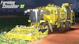 Nocny zbiór buraków  - Farming Simulator 17 [PLATINUM]   #48