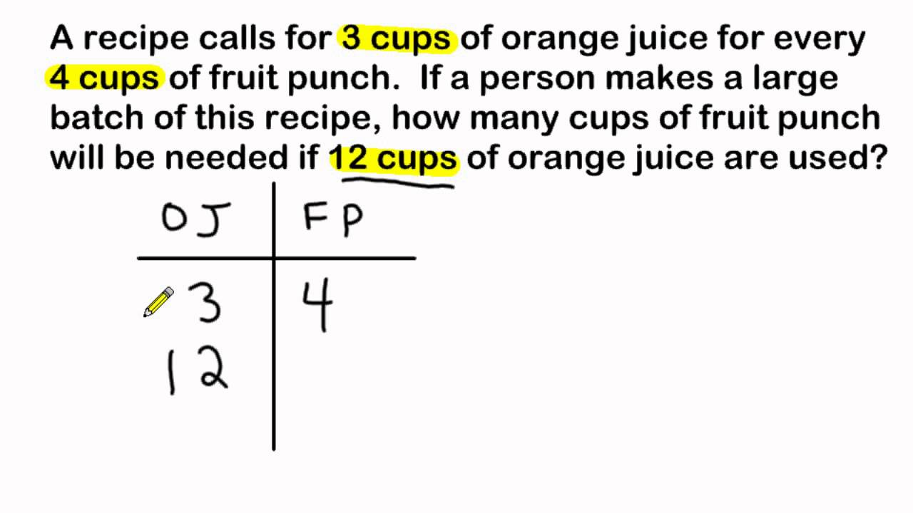 Ratio Word Problems - Using Ratio Tables To Solve - YouTube [ 720 x 1280 Pixel ]