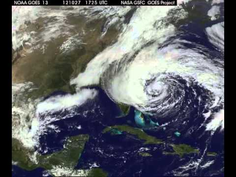 Hurricane Sandy Space View - From Start To Finish   Video