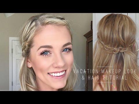 Vacation Makeup Look & Hair Tutorial
