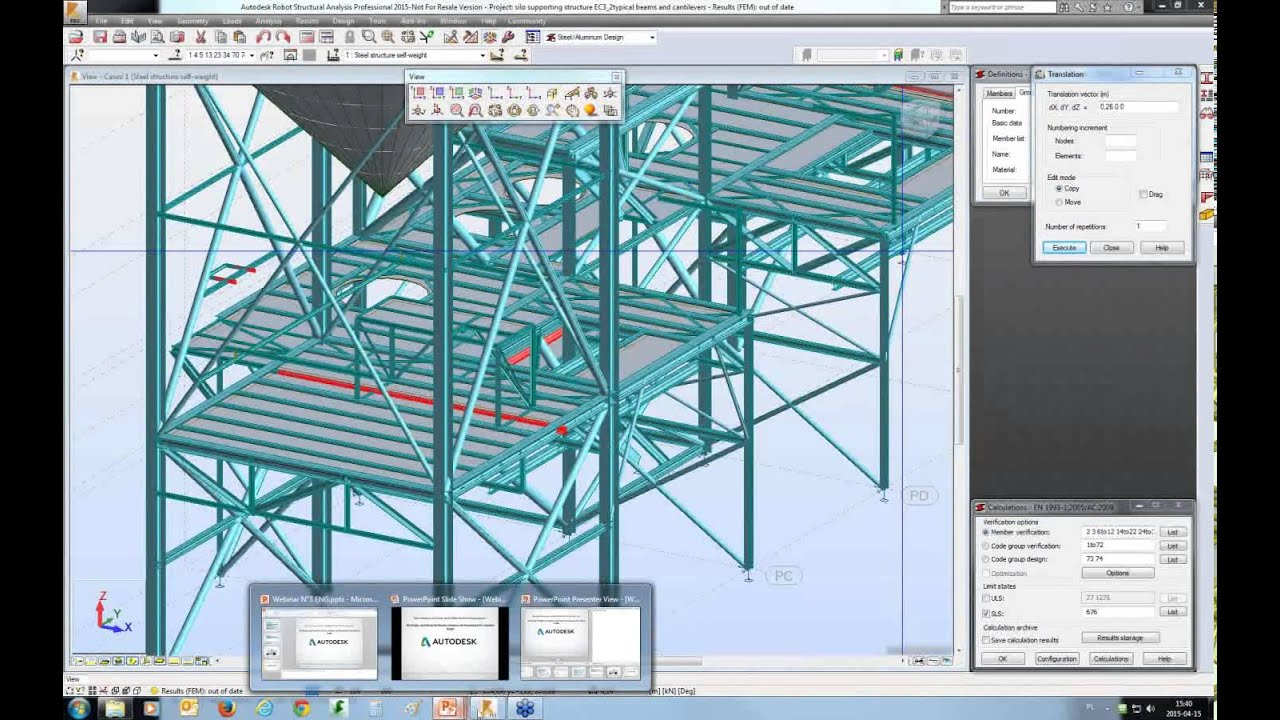 3 Steel Design How To Build The Model And Assign Design Parameters Youtube