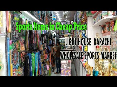 Sports Goods At Cheapest Price   Wholesale Sports Market Light House Karachi   Lighthouse   Hajos